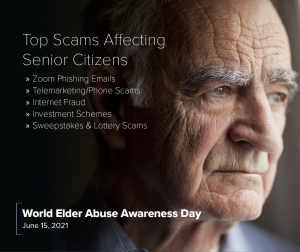 Top Scams Affecting Senior Citizens - Zoom Phishing Emails, Telemarketing Phone Scams, Internet Fraud, Investment Schemes, Sweepstakes & Lottery Scams
